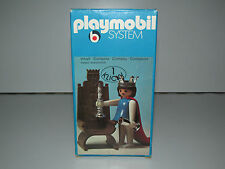 VINTAGE PLAYMOBIL KLICKY SYSTEM 3335 QUEEN WITH THRONE 100% COMPLETE MIB - RARE