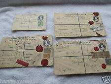 India stamp cover stationary  letter envelope Registered & insured x 4    HPS