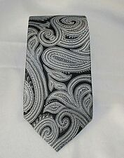 Michael Kors Paisley Classic Men's Necktie Blues and Pewter 100% Silk Woven Tie