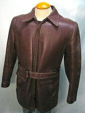 Superb Vintage 40's MONARCH HORSEHIDE Half Belt Leather Jacket Sz 42 MINTY