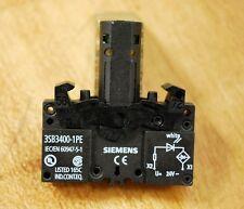 Siemens 3SB3-400-1PE Integrated LED Lamp Holder, 3SB34001PE - NEW