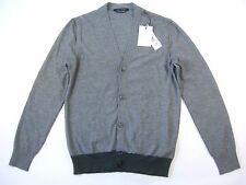 MARC JACOBS GRAY GREEN MEDIUM CARDIGAN 100% WOOL SWEATER MENS NWT NEW