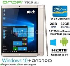 "ONDA v919 AIR 9,7 ""Tablet PC Windows e Android OS Quad Core Intel 2 GB di RAM 32GB"