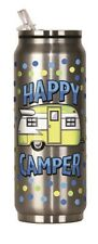 20913 Happy Camper Trailer RV Camping 12oz Stainless Steel Travel Beverage Can