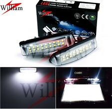 2x LED License Plate Lights Xenon White Lamps For Toyota Echo 4door 1999-2005