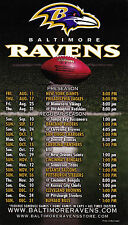 2006 BALTIMORE RAVENS FOOTBALL MAGNET MAGNETIC SCHEDULE