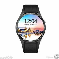 "Black Kingwear KW88 3G Smartwatch Phone 1.39"" Quad-core 512MB Android 5.1"