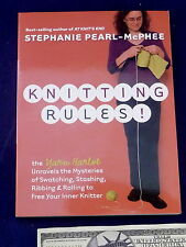 Pearl-McPhee Book Knitting Rules Swatching Stashing 1st Edition