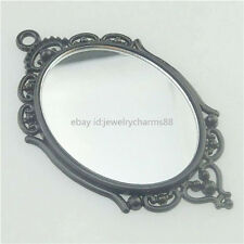 17357 5SET Black Holder Frame Base Trays Setting + 40x30mm Acrylic Mirror Cameo