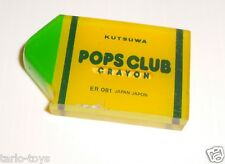 POPS CLUB crayon 80s Kutsuwa Japan jelly eraser rubber gomma gommina mint