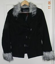 Tripp  Fur Hook Jacket Ladies Coat Gothic - Size L