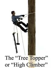The TREE TOPPER or HIGH CLIMBER, Finished O scale LOGGING FIGURES