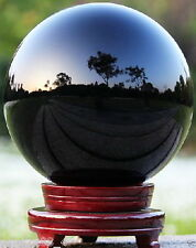 HOT SELL NATURAL OBSIDIAN POLISHED BLACK CRYSTAL SPHERE BALL 100MM