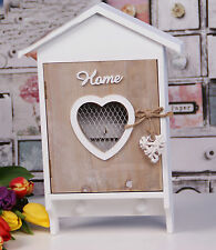 SHABBY CHIC IN LEGNO Chiave Scatola Storage Holder paese Francese Casa