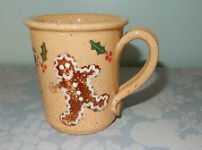 """Three Rivers Pottery Coschocton OH Gingerbread Man Large Mug 4"""""""
