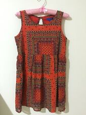Valleygirl Colourful Bohemian Patterned Flowy Dress Size 8