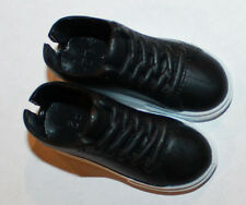 "1/6 Scale Plastic Black Shoes for 11"" or 12"" inch action figure 1/6th"