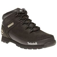 New Mens Timberland Black Euro Sprint Leather Boots Lace Up