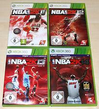 4 Xbox 360 juegos colección nba 2k11 2k12 2k13 2k14-baloncesto Jay Z --- (2k15)