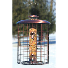 Woodlink Brushed Copper Caged 6 Port Seed Feeder COPCAGE6S Bird Feeder NEW