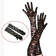 Sexy Women Ladies Black Lace Wedding Party Evening Prom Fancy Ball Long Gloves