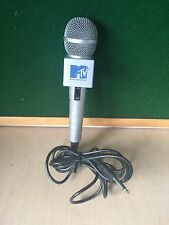 Vintage MTV Karaoke Microphone Wired Gray Stage Music Mic Television Singing