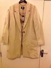 M&S Autograph 100% Cotton Collared Neck Overcoat Size: 18 RRP £119