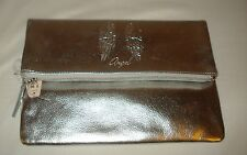 Victoria Secret Supermodel Essentials Angel Silver Foldover Clutch Purse Handbag