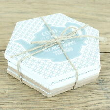 Boutique tea coffee coaster coasters set four 4 shabby chic gift vintage mat