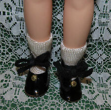 "Factory Mint Black SHOES with ornament at toe for 12"" vinyl Shirley Temple!"