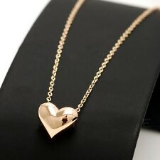 18Ct Yellow Gold Plated Delicate Heart Necklace Jewellery
