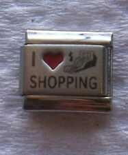 """I LOVE SHOPPING""  9MM RED HEART  ITALIAN CHARM-SALES, MALLS, ONLINE"