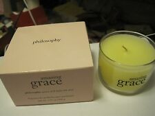 Philosophy Amazing Grace Fragranced Candle in Glass holder~ New In Box!!