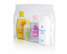 Johnsons BABY MINI Toiletry Pack BABIES Toddler WASH BAG *6 TRAVEL ESSENTIALS*