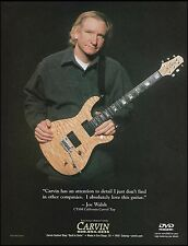 The Eagles Joe Walsh Carvin CT6M California Single Carved Top Guitar 8 x 11 ad