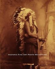 COMANCHE INDIAN CHIEF WILD HORSE VINTAGE PHOTO NATIVE AMERICAN 1890 8x10 #21713