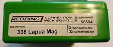 58594 REDDING TYPE-S COMPETITION BUSHING NECK DIE SET- 338 LAPUA MAG - NEW