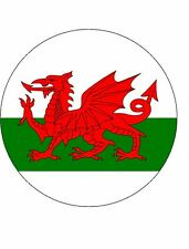 15x WELSH DRAGON FLAG 40mm Rice Paper Cup Cake Toppers WALES