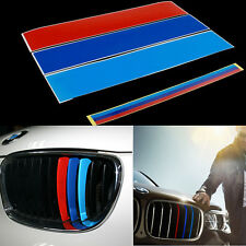 25 x 5cm For BMW Kidney Grill M Sport Color Stripes Sticker Decal M3 E39 E60 E90