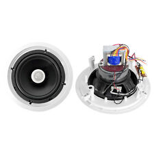 Pair New Pyle PDIC80T 8'' Two-Way In-Ceiling Speakers w/70V Transformer
