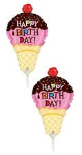 6 ICE CREAM CONE BALLOONS BIRTHDAY PARTY MINI SHAPE FAVORS CANDYLAND DECORATION