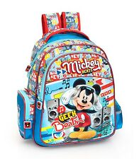 Disney Mickey Mouse Blue Rucksack Backpack PREMIUM School Travel Bag Boys Blue