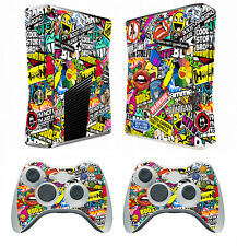 Bombing N262 Vinyl Cover Skin Sticker for Xbox360 slim and 2 controller skins