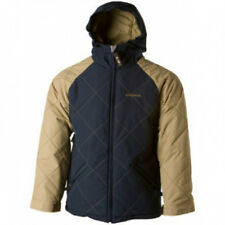 QUIKSILVER Youth Series French Fries Jacket Small Brown/Navy Reg $200.00