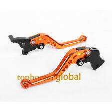 Short Clutch Brake Levers For KTM Duke 125 200 390 RC125/250/390 Orange CNC