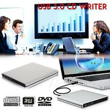 External USB 3.0 Slim Drive DVD-RW DVD CD Burner Copier Writer Reader Rewriter