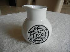 Noritake Younger Image Esperanza Creamer Pitcher 6924 Japan White Black Scrolls