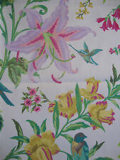 51cm SCHUMACHER Avondale Floral fine cotton curtain fabric remnant