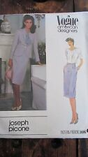 VOGUE Designer Joseph Picone Sewing Pattern 2696 Size 14 Jacket Skirt & Belt