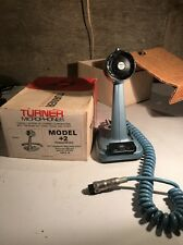 VINTAGE 1970's TURNER MODEL +2 CB/HAM RADIO MICROPHONE